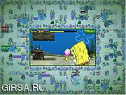 Флеш игра онлайн Спешка шины Spongebob Squarepants атлантическая Squarepants