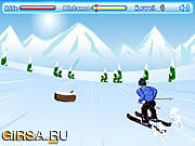 Флеш игра онлайн Черточка катания на лыжах / Skiing Dash