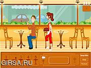 Флеш игра онлайн Официантка в кафе / Cafe Waitress