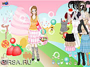 Флеш игра онлайн Candy Land Dress Up