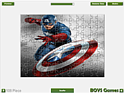 Флеш игра онлайн Капитан Америка. Мозайка / Captain America Jigsaw