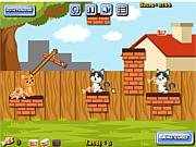 Флеш игра онлайн Cat Food Throw