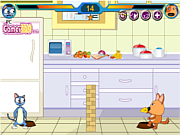 Флеш игра онлайн Кошки против собак / Cat vs Dog