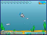Флеш игра онлайн Кот-Водолаз / Cat-Diver