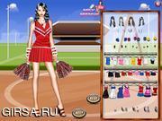 Флеш игра онлайн Наряд для группы поддержки / Cheerleader Dressup