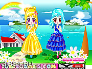 Флеш игра онлайн Сестры-близнецы / Chic Twin Sisters