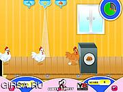 Флеш игра онлайн Жареная курица / Chicken Kitchen