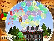 Флеш игра онлайн Рождество.Пузыри / Christmas.Bubbles