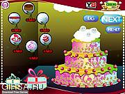 Флеш игра онлайн Рождественское украшение торта / Christmas Cake Decoration 2013