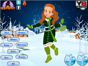 Флеш игра онлайн Рождественская милашка наряжается / Christmas Cutie Dress Up