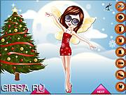 Флеш игра онлайн Рождественские Фея Платье Вверх / Christmas Fairy Dress Up