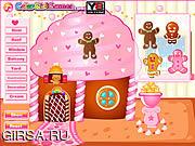 Флеш игра онлайн Рождественские Пряничный домик