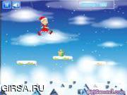 Флеш игра онлайн Рождественские прыжки / Christmas Girl Jumps