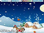 Флеш игра онлайн Рождество Лошадь