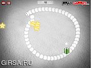 Флеш игра онлайн Рождественская змейка
