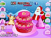 Флеш игра онлайн Украшение рождественского сладкого пирога / Christmas Sweet Cake Decoration