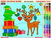 Флеш игра онлайн Рождественская Сказка - Rossy Раскраски Игры / Christmas Tale - Rossy Coloring Games