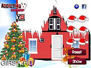 Флеш игра онлайн Украшаем рождественскую елку