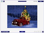 Флеш игра онлайн Рождественская елка - пазл / Christmas Tree Delivery Jigsaw