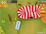 Флеш игра онлайн Парковка циркового грузовика / Circus Caravan Parking