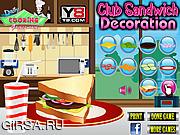 Флеш игра онлайн Украшение сэндвича / Club Sandwich Decoration