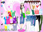 Игра Одеваемся в красочные футболки / Colorful Shirts Dress Up