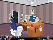 Флеш игра онлайн Компьютер Туалет Комната Отдыха / Computer Toilet Room Escape