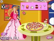 Флеш игра онлайн Приготовления пиццы Барби / Cooking Barbie Candy Pizza