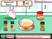 Флеш игра онлайн Готовим Рождественский пирог / Cooking Christmas Cake