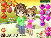Флеш игра онлайн Пара Любовь В Лето / Couple Love In Summer