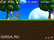 Флеш игра онлайн Сумасшедший кролик / Crazy Rabbit