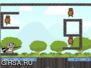 Флеш игра онлайн Сумасшедший енот