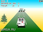 Флеш игра онлайн Сумасшедшая скорая / Crazy Ambulance