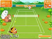 Флеш игра онлайн Сумасшедший теннис