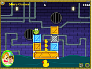 Флеш игра онлайн Crocodile Love Duck