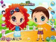 Флеш игра онлайн Счастливый ребенок / Cute Baby Couple