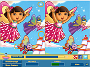 Флеш игра онлайн Даша. Найти отличия / Cute Dora Difference