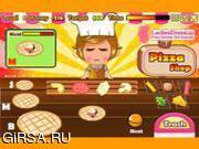 Флеш игра онлайн Милые Девушки / Cute Girl's Pizza Shop