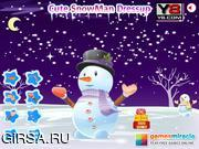 Флеш игра онлайн Милый Снеговик Одеваются / Cute Snowman Dressup