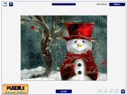 Флеш игра онлайн Симпатичные снеговики / Cute Snowmen Jigsaw