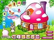 Флеш игра онлайн Украшения для грибного дома