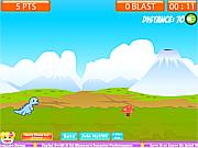Флеш игра онлайн Дино, беги! / Deeno Run