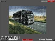 Флеш игра онлайн Грузовики - пазл / Delivery Truck Jigsaw