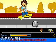 Флеш игра онлайн Диего на скейтборде / Diego School Skateboard