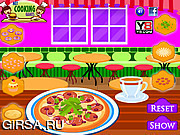 Флеш игра онлайн Готовим пиццу / Dinner Pizza Maker