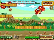 Флеш игра онлайн Супер прыжок динозавра / Dino Super Jump
