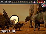 Флеш игра онлайн Динозавр. Скрытые предметы