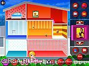 Флеш игра онлайн Украшение кукольного домика