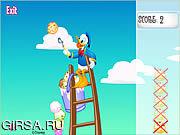 Флеш игра онлайн Совки-н лестница