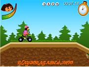 Флеш игра онлайн Dora ATV Challenge